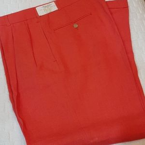 Brooks Brothers 100% linen persimmon pants